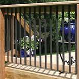 Traditional Face Mount Baluster by DecKorators