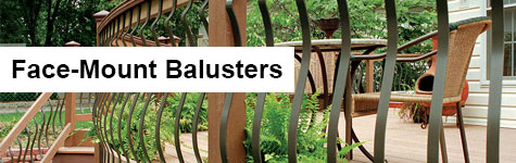 Face Mount Deck Balusters