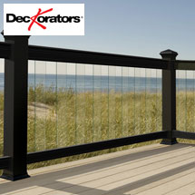 DecKorators Aluminum Railing with Glass Balusters
