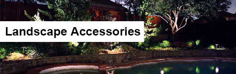 Landscape lighting accessories