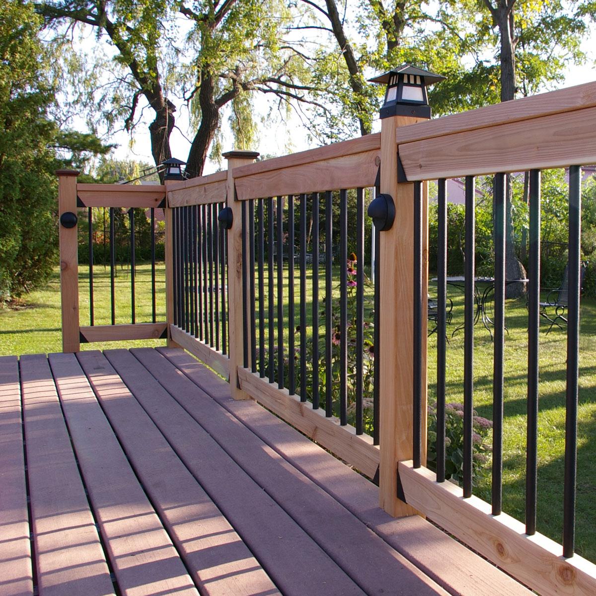 Aluminum Deck Railing: Premium Round Aluminum Baluster By Tehk
