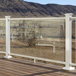 Fortress Aluminum Pure View Full Glass Panel Rail