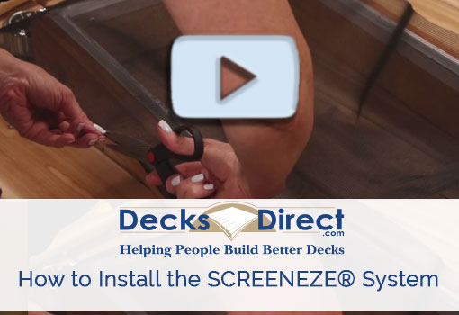 How to install screenEZE screen system video