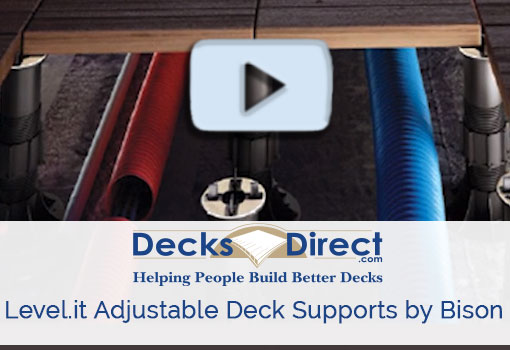 Level.it Adjustable Deck Supports by Bison