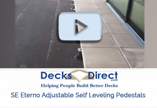 SE Eterno Adjustable Self Leveling Pedestal Supports by MRP