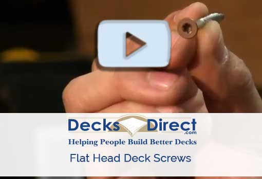 Flat Head Deck Screws