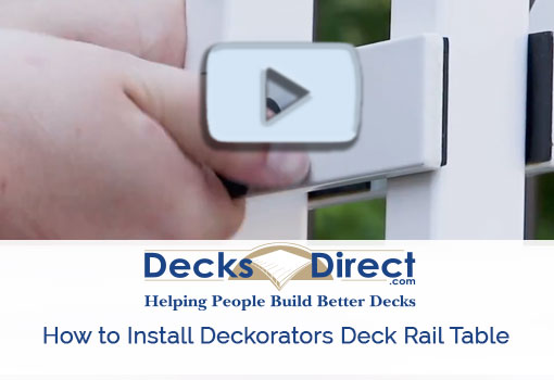 How to install the Deckorators deck rail table video
