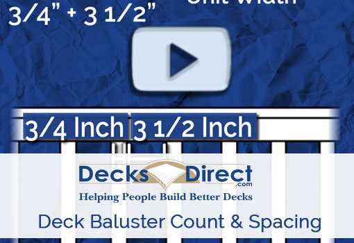 Deck balusters spacing video