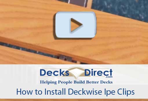 How to Install Deck Ipe Clips