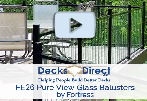 FE26 Rails for Pure View Glass Balusters by Fortresss