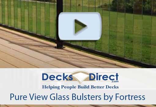 Pure View glass balusters by Fortress give a clear view of the valley below this deck