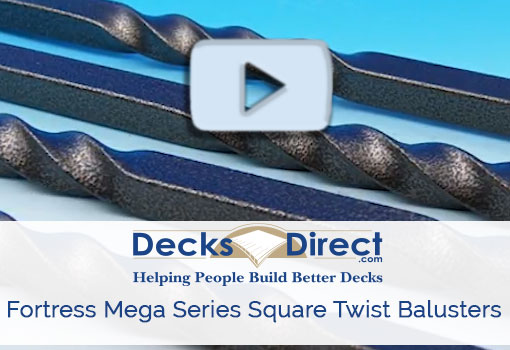 Fortress mega series square twist baluster more information video