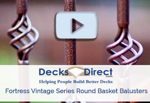 Fortress vintage series round basket baluster more information video