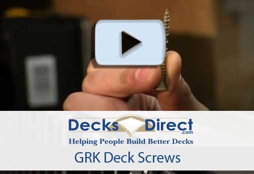 GRK Deck Screws video link