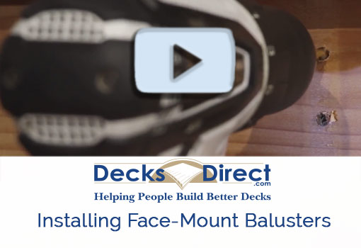 How to install face-mount balusters video