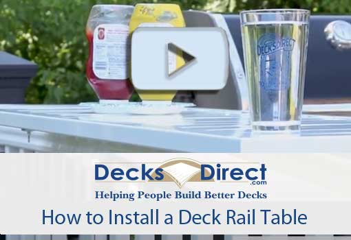 How to Attach a Deck Rail Table