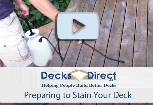 How to Prep Deck for Staining Video