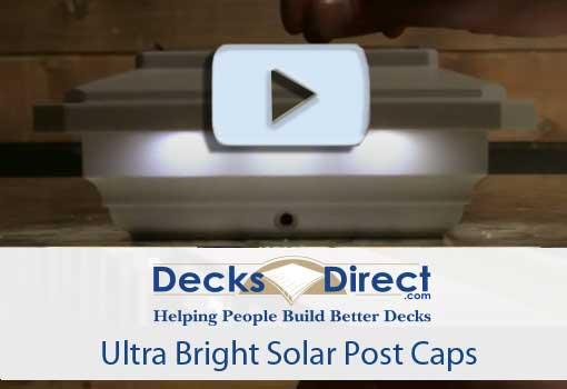 Ultra Bright Solar Post Caps