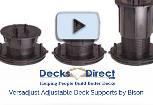 Versadjust Adjustable Deck Supports by Bison
