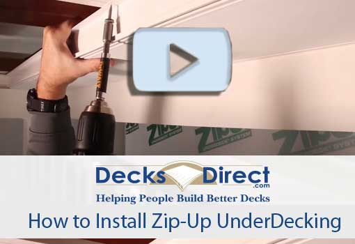 How to Install Zip-Up Underdecking video