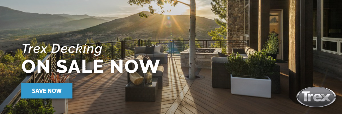 Trex decking is now on sale!