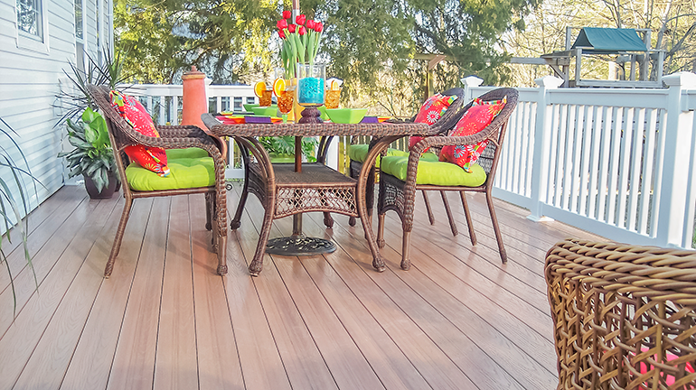 Build a relaxing getaway in your own backyard with the stunning looks and virtually maintenance-free feel of Genovations PVC decking.