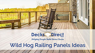 Wild Hog Pre Welded Railing Panels Decksdirect