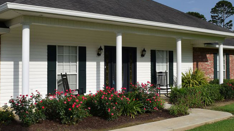 AFCO Aluminum columns bring can easily update a front porch with style