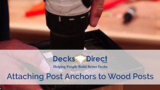 How to Attach Post Anchors to Wood Posts