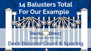 How many deck balusters you need and how far apart to space them