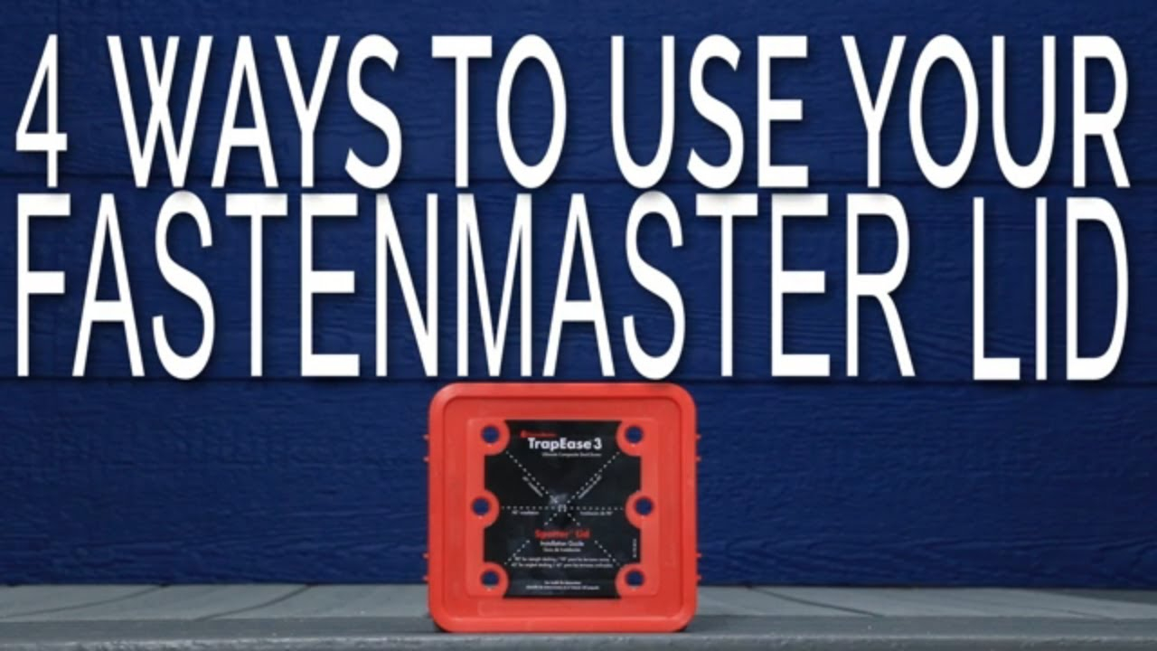 The FastenMaster Screw Guide Lid helps you install your TrapEase 3 Composite Deck Screws Easily