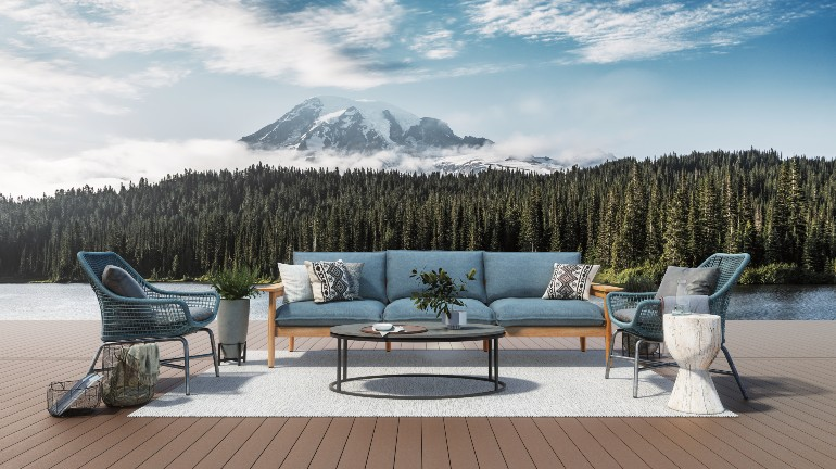 Build a relaxing getaway in your own backyard with the stunning looks and virtually maintenance-free feel of PVC decking.