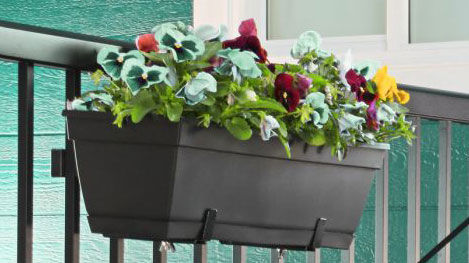 Rail flower planter.