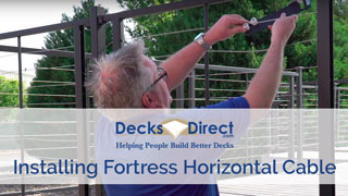 Fortress Horizontal Cable Railing Panel System Installation Video