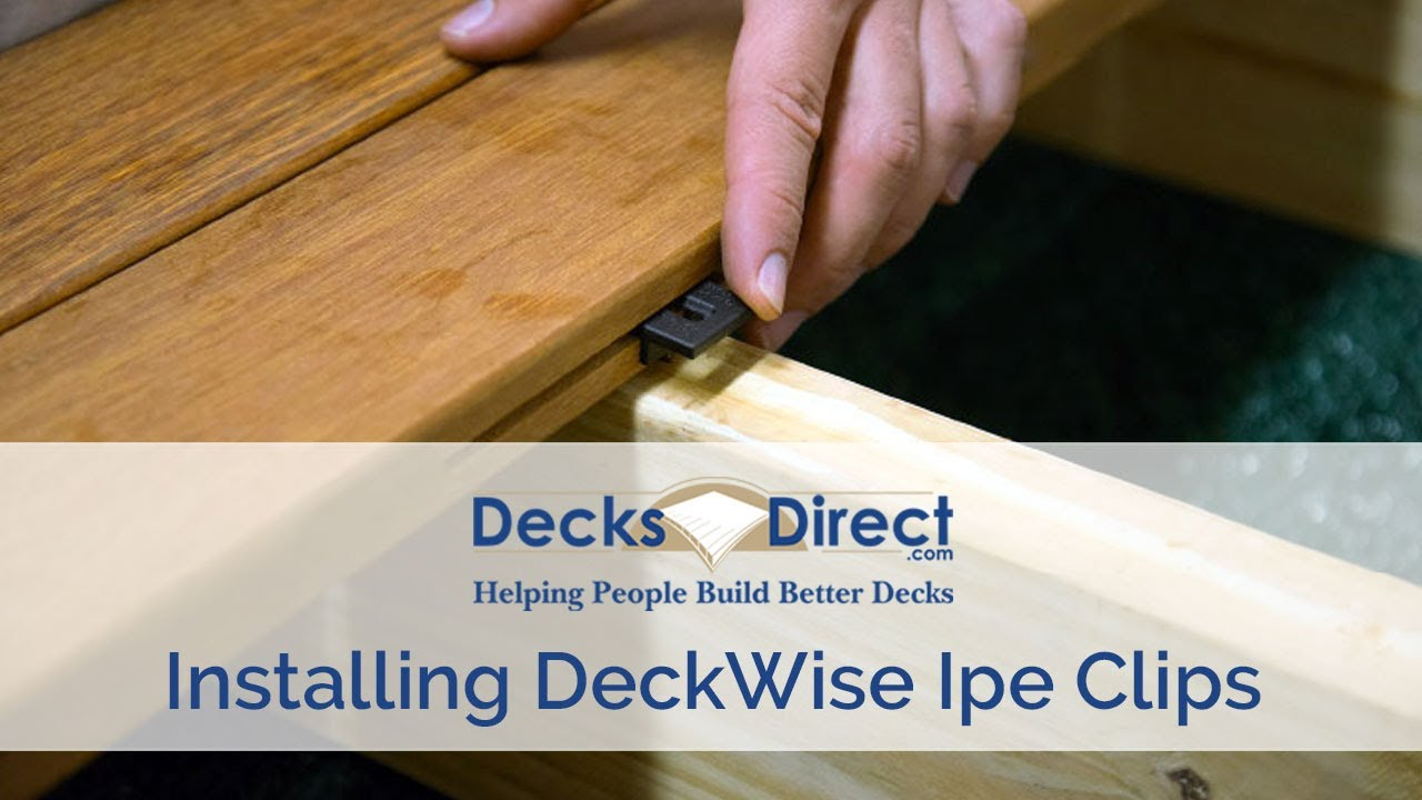 How to Install Ipe Clips