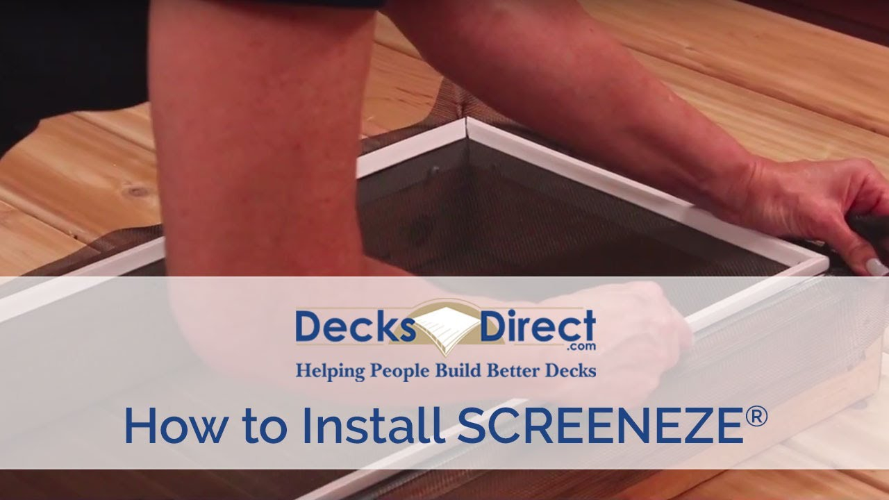 How to Install SCREENEZE Screen Railing