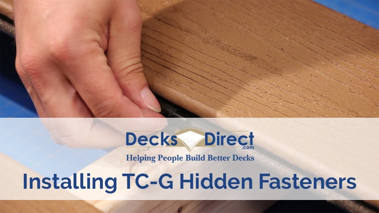 How to Install TC-G Hidden Fasteners