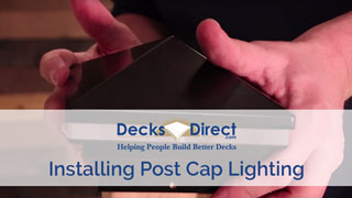 How to Install Post Cap Lighting
