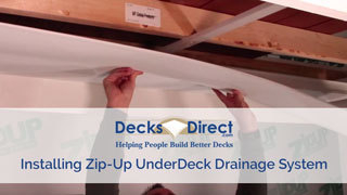 Video- How to Install Zip-Up UnderDeck Drainage System