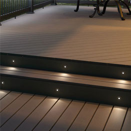 Deck lighting led solar step rail recessed post cap more led deck lights aloadofball Choice Image