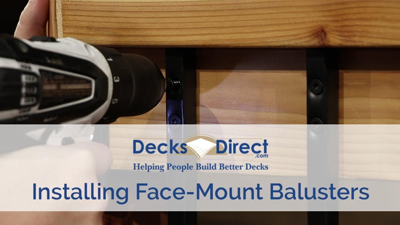 How to Install Face-Mount Balusters