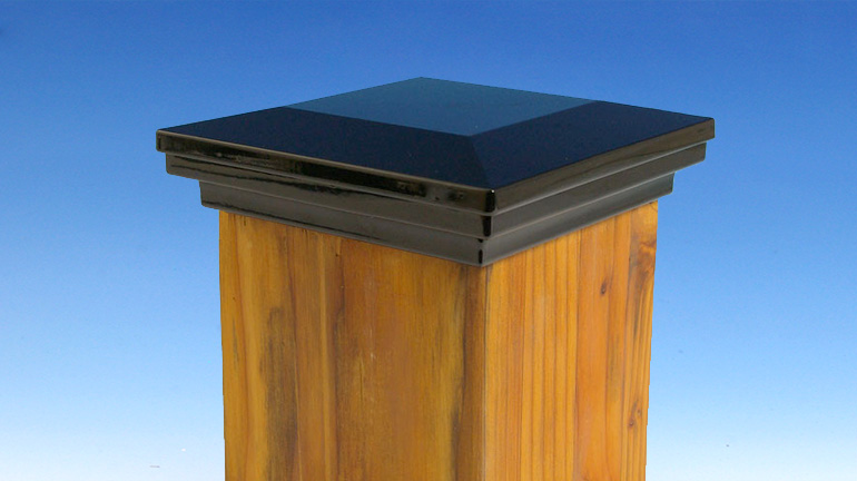 64365fc002c82 6 X 6 Post Caps. A Fortress Accents Gloss Black Flat Pyramid Post Cap ...