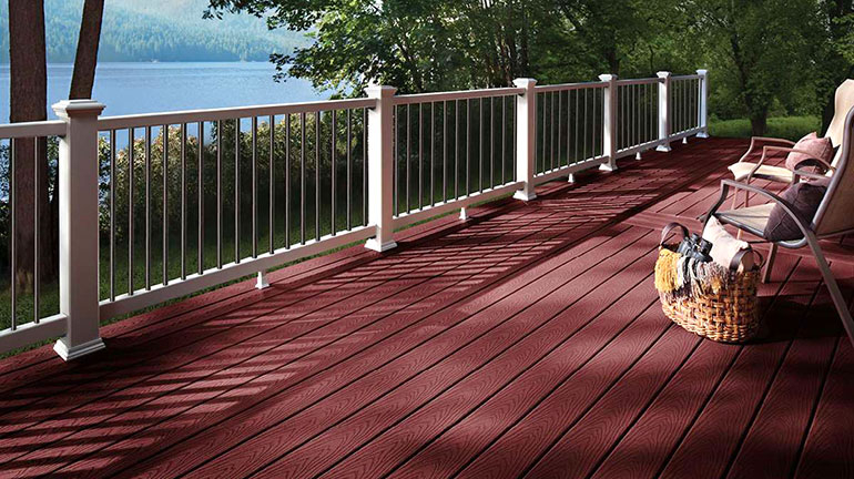 Red Composite Decking - Composite Decking Boards - DecksDirect
