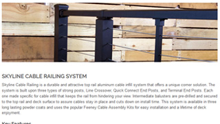 Blog article describing new Skyline Cable Railing