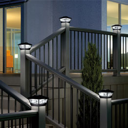 Deck Lighting Led Solar Step Rail Recessed Post Cap