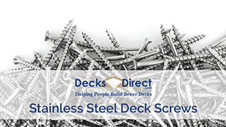 a video about stainless steel deck screws