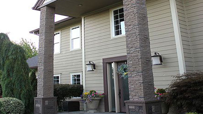 Stone columns can add curb appeal to your front porch