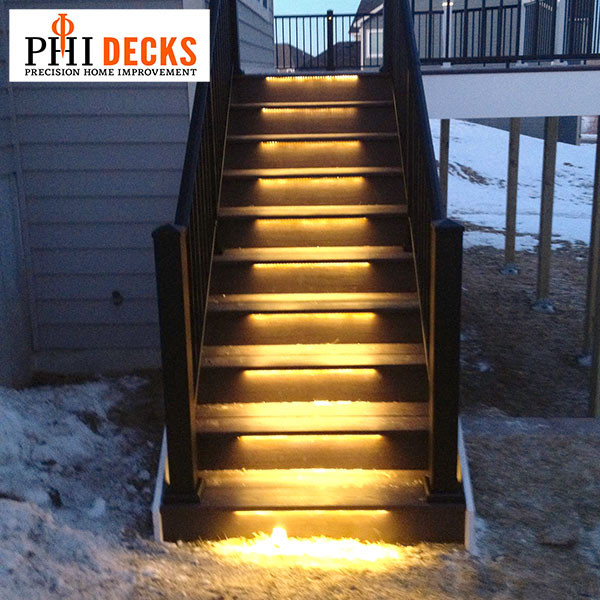 Lighting Basement Washroom Stairs: Odyssey LED Strip Light By Aurora Deck Lighting