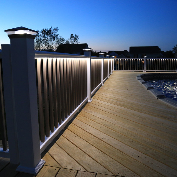 Under rail cool white led strip light by lmt mercer decksdirect low voltage led under rail strip light by lmt mercer with u channel not included aloadofball Images