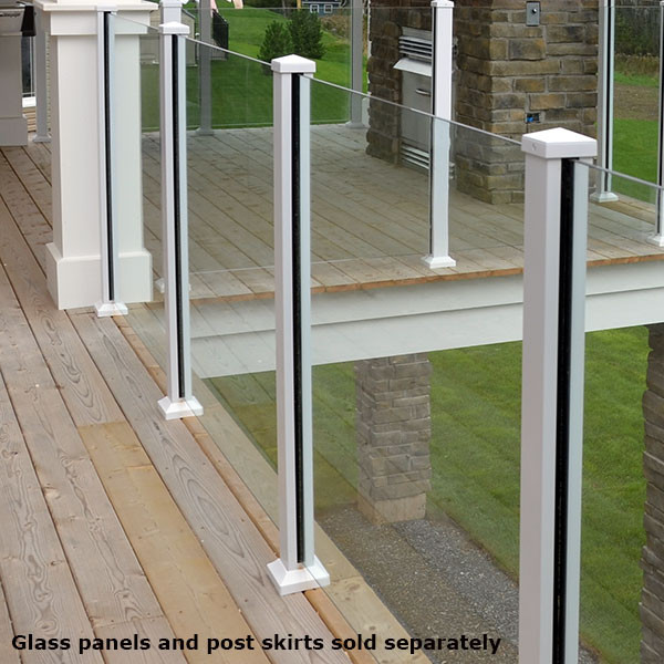Scenic posts by century aluminum railings decksdirect